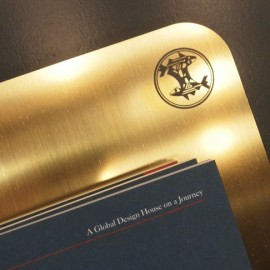 PRODUCT DESIGN <br/> Brass display for magazines